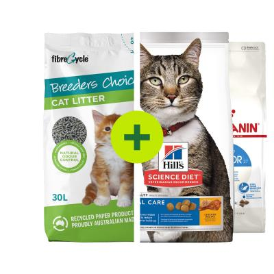 Breeders Choice Paper Litter Plus Premium Food For Cats