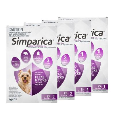 Simparica For Dogs 2.6 - 5kg Purple XSmall 8 Chews
