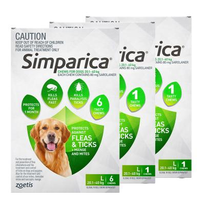 Simparica For Dogs 20.1- 40kg Green Large 8 Chews