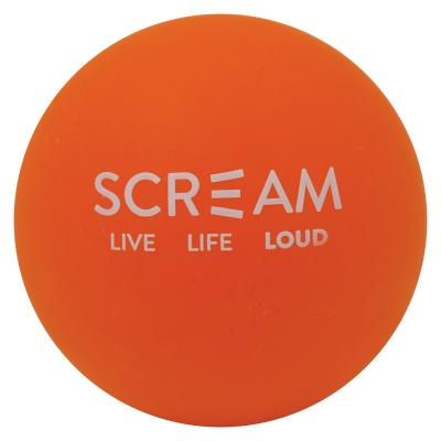 Scream High Bounce Chase Float Orange Rubber Ball Toy For Dogs