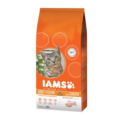 Iams Chicken Adult Dry Cat Food 15kg