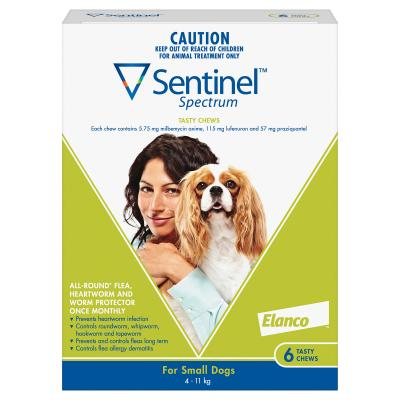 Sentinel Spectrum For Dogs 4-11kg Green 6 Pack