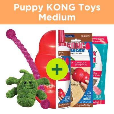 KONG Puppy Play Plus Rewards For Medium Puppies