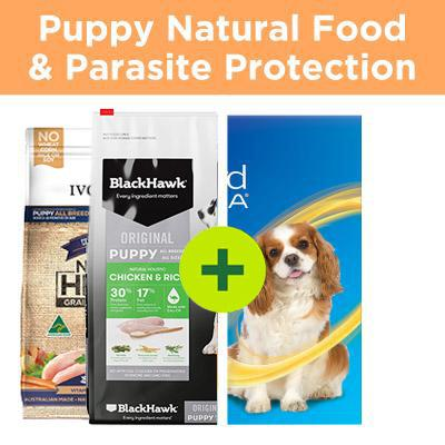 Essential Puppy Products - Natural Food Plus Parasite Control For Dogs