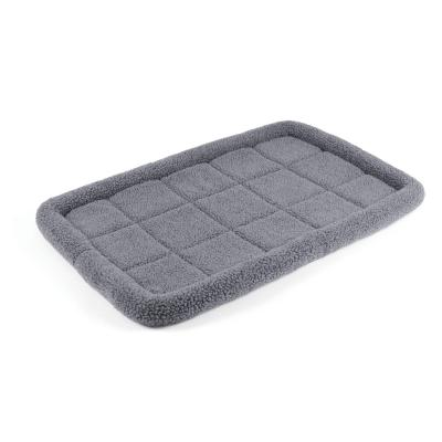 Kazoo Cushioned Mat Crate Bed Navy Grey Large For Dogs 91 x 61cm