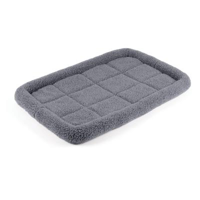 Kazoo Cushioned Mat Crate Bed Navy Grey Medium For Dogs 77 x 53cm