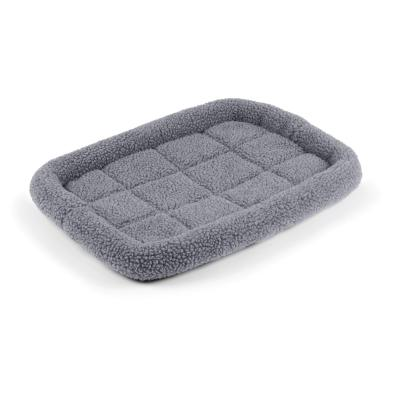 Kazoo Cushioned Mat Crate Bed Navy Grey Small For Dogs 61 x 46cm