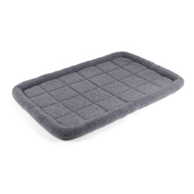 Kazoo Cushioned Mat Crate Bed Navy Grey XLarge For Dogs 110 x 71cm