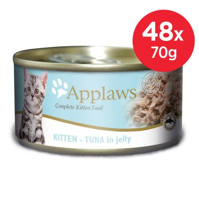 Applaws Kitten Tuna In Jelly Canned Wet Cat Food 70g x 48