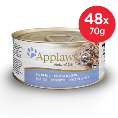 Applaws Ocean Fish Adult Canned Wet Cat Food 70g x 48