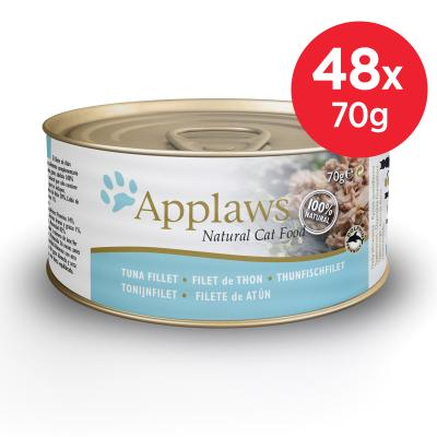 Applaws Tuna Fillet Adult Canned Wet Cat Food 70g x 48