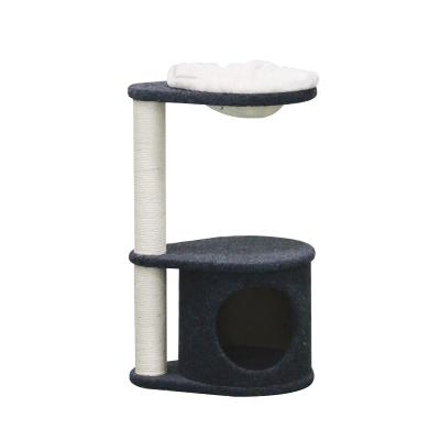 Kazoo Kitty Hide And Hang Den Scratching Post Fun House Toy For Cats