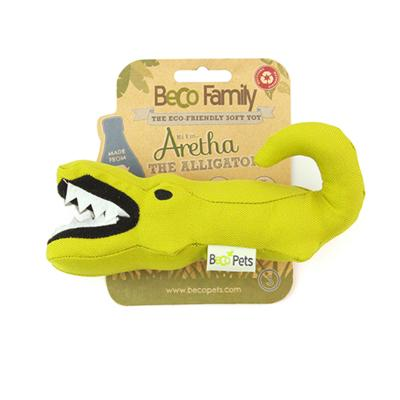 Beco Aretha The Alligator Eco Friendly Soft Plush Squeak Small Toy For Dogs