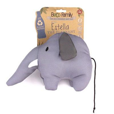 Beco Estella The Elephant Eco Friendly Soft Plush Squeak Large Toy For Dogs