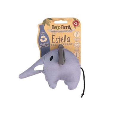 Beco Estella The Elephant Eco Friendly Soft Plush Squeak Small Toy For Dogs