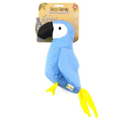 Beco Lucy The Parrot Eco Friendly Soft Plush Squeak Large Toy For Dogs