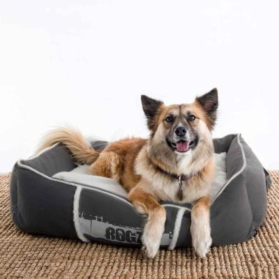 Rogz Comfy Basket Style Lounge Podz Brown Cream Large Bed For Dogs