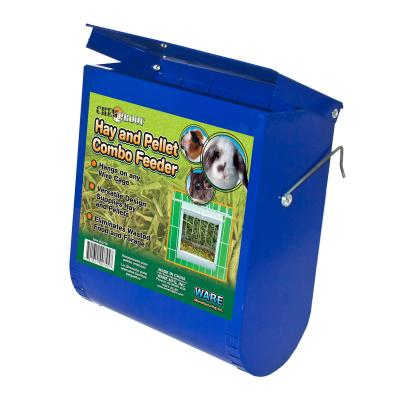 Ware Hay And Pellet Combo Feeder Hopper Assorted Colour For Small Animals