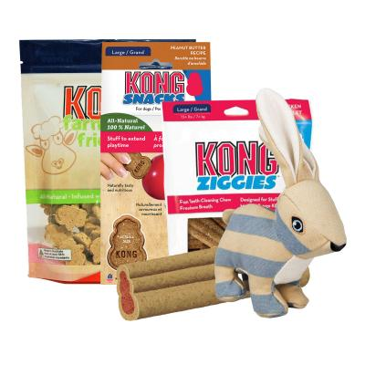 Easter Treatster KONG Bunny Toy And Treats Pack For Medium-Large Dogs