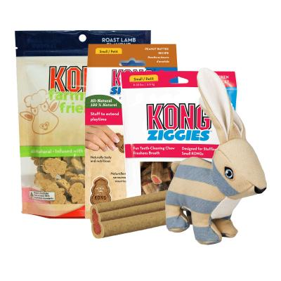 Easter Treatster KONG Bunny Toy And Treats Pack For Small-Medium Dogs