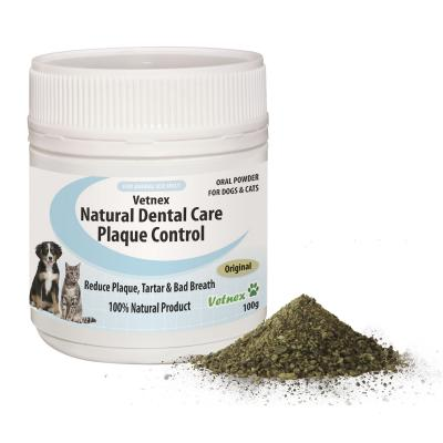 Vetnex Plaque Control Natural Dental Care Original Powder With Beef Liver Chews Pack For Dogs And Cats