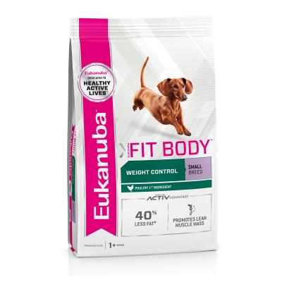 Eukanuba Fit Body Weight Control Small Breed Adult Dry Dog Food 3kg