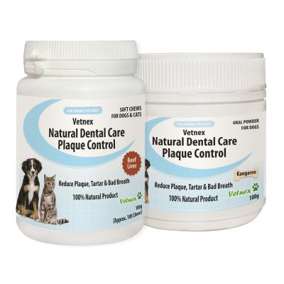 Vetnex Natural Dental Care Kangaroo Powder With Beef Liver Chews Pack For Dogs