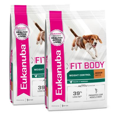 Eukanuba Fit Body Weight Control Medium Breed Adult Dry Dog Food 30kg