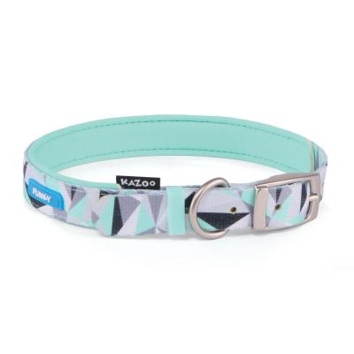 Kazoo Funky Nylon Collar Mint Abstract 55cm x 20mm Large For Dogs