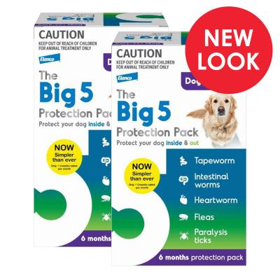 The Big 5 Protection Pack For Dogs Purple 22kg-45kg 12 Pack (Interceptor + Credelio)