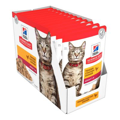 Hills Science Diet Optimal Care Chicken Adult 1-6 Years Pouches Wet Cat Food 85gm x 12