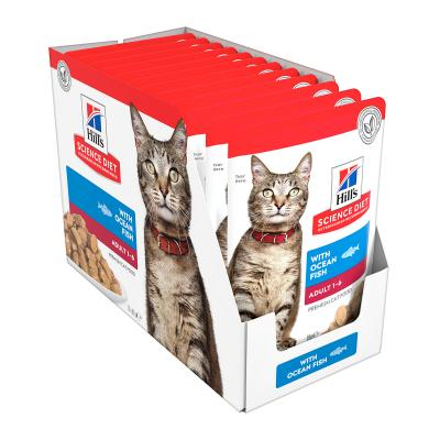 Hills Science Diet Optimal Care Ocean Fish Adult 1-6 Years Pouches Wet Cat Food 85gm x 12