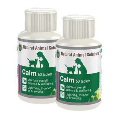 Natural Animal Solutions (NAS) Calm For Dogs And Cats 120 Tablets (60 x 2)