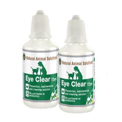 Natural Animal Solutions (NAS) Eye Clear For Dogs And Cats 30ml (15ml x 2)