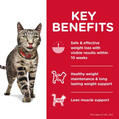 Hills Science Diet Perfect Weight Chicken Adult Dry Cat Food 3.17kg With Perfect Weight Chicken Adult Wet Pouches 85g x 12