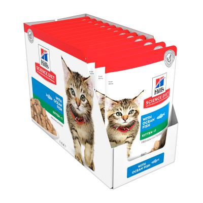 Hills Science Diet Ocean Fish Kitten Pouches Wet Cat Food 85gm x 12