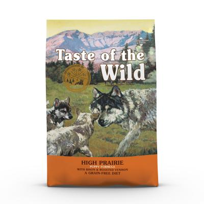 Taste of the Wild Grain Free High Prairie Roasted Bison And Venison Puppy Dry Dog Food 2kg