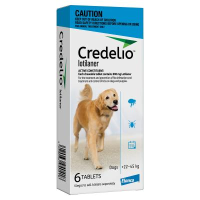 Credelio Tablets For Large Dogs Blue 22 - 45kg 6 Pack