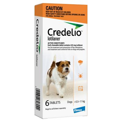 Credelio Tablets For Small Dogs Orange 5.5 - 11kg 6 Pack
