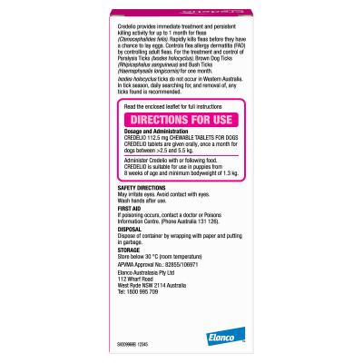Credelio Tablets For Very Small Dogs Pink 2.5 - 5.5kg 3 Pack