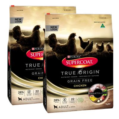 Supercoat True Origin Grain Free Chicken Dry Food For Adult Dogs 14kg