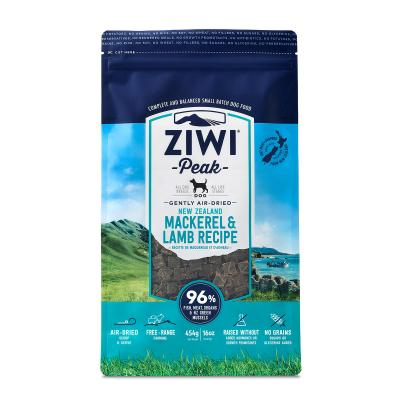 Ziwi Peak Grain Free Mackerel And Lamb Puppy And Adult Air Dried Meat Dog Food 454gm