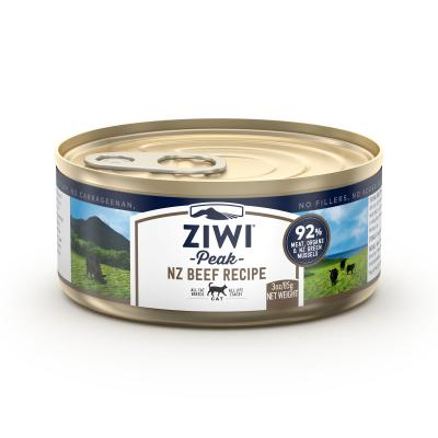 Ziwi Peak Grain Free Beef Kitten And Adult Canned Wet Meat Cat Food 24 x 85gm