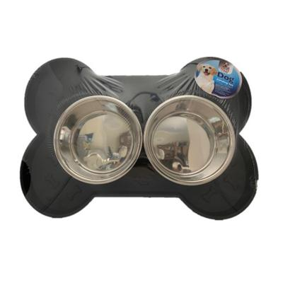 Loving Pets Feeding Tray And Bowls Set For Dogs