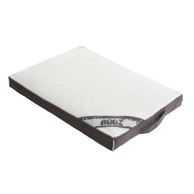 Rogz Flat Mattress Lounge Podz Brown White Small Bed For Dogs