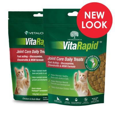 Vetalogica VitaRapid Joint Arthritis Daily Treats For Cats