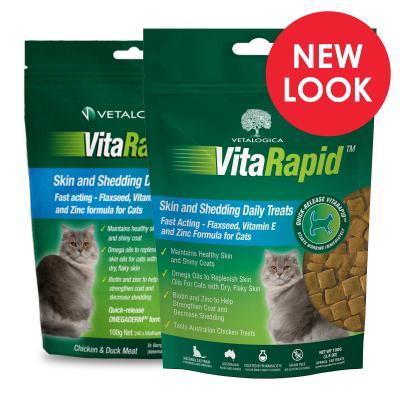 Vetalogica VitaRapid for Cats Skin And Shedding Daily Treats