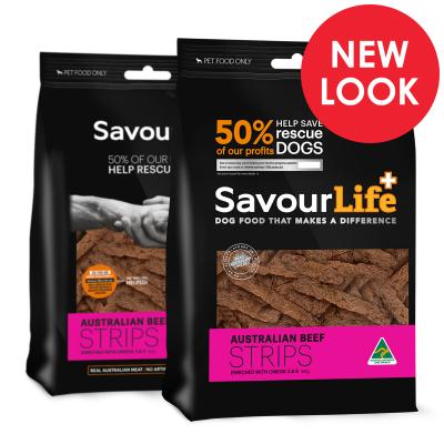 SavourLife Australian Beef Strips Treats For Dogs 165gm