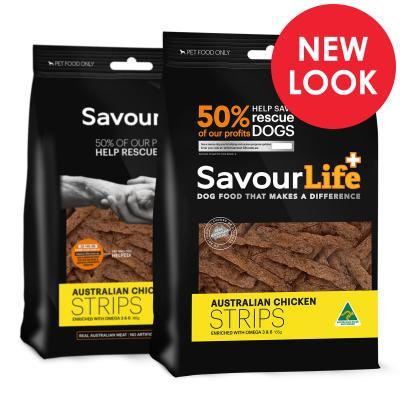 SavourLife Australian Chicken Strips Treats For Dogs 165gm