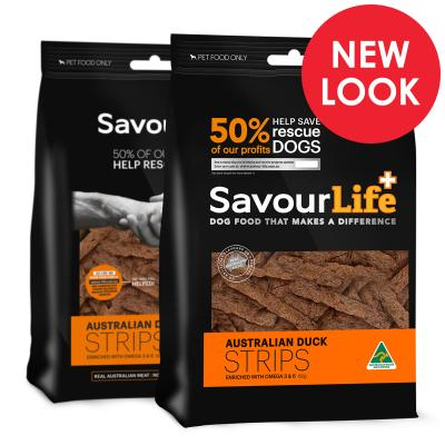 SavourLife Australian Duck Strips Treats For Dogs 150gm